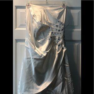 Strapless Mini Gown
